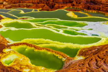 Dallol Sulfur Springs In The A...