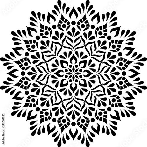 Photo  Mandala Pattern Stencil doodles sketch
