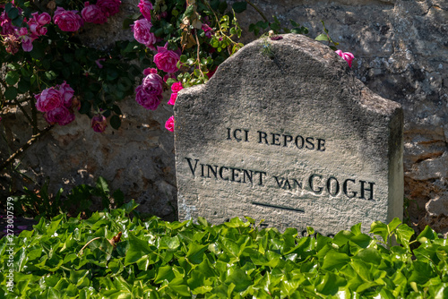 Photo The tomb of Vincent Van Gogh at Auvers-sur-Oise, France
