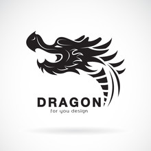 Vector Of Dragon Head Design O...