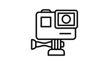 Action Camera Icon Vector Illustration.