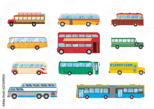 Canvas Print Bus Collection