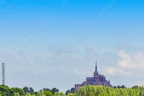 Staande foto Kasteel Le Mont Saint Michel - Normandy, France