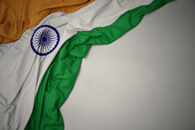 Waving National Flag Of India ...