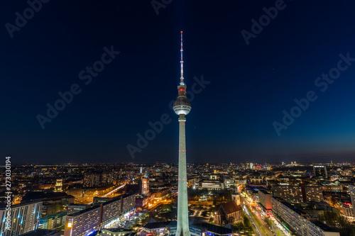 Foto op Canvas Berlijn Berlin TV Tower at night