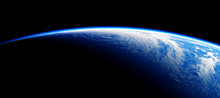 View From Space On The Blue Planet Earth. NASA Images Not Used.