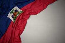 Waving National Flag Of Haiti ...