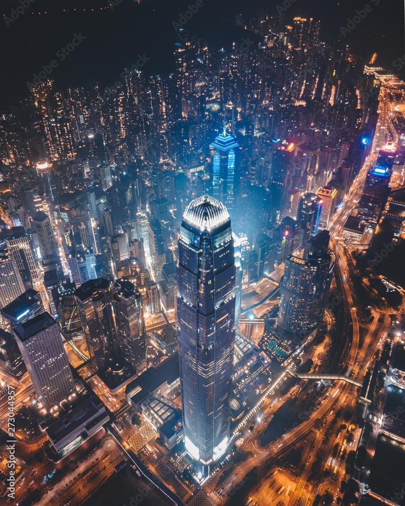 Fototapety, obrazy: Hong Kong Skyscrapers