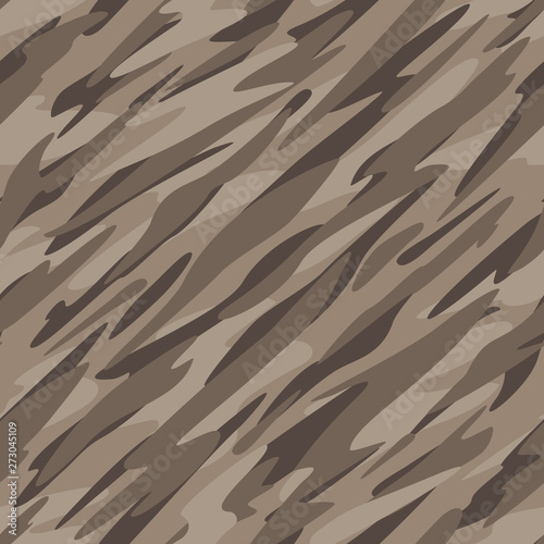 Desert Camouflage Abstract Seamless Repeating Pattern Vector Illustration Canvas Print