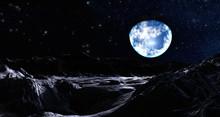 Erde über Einer Mondlandschaft