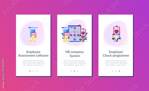 Hr Manager With Employee At Interview And Business Flow Chart Employee Assessment Software Hr Company System Employee Check Programme Concept Mobile Ui Ux Gui Template App Interface Wireframe Buy This Stock It is not ok for your website to simply look great. mobile ui ux gui template