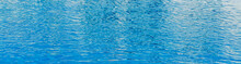 Blue Water Texture In A Pool, Closeup