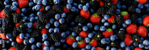 Fototapeta Fruits of the forest background, ultra realistic 3d rendering obraz