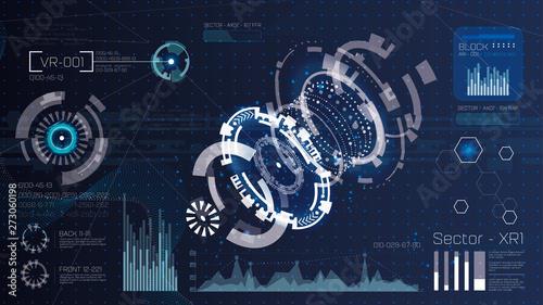 Fotografía  Technology futuristic modern user interface circle shapes