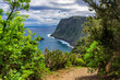 Madeira island scenic mountain and ocean view