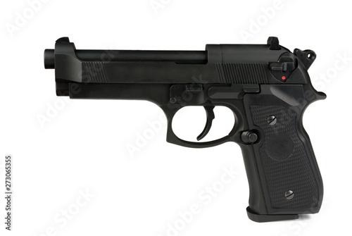 gun turn left Canvas Print