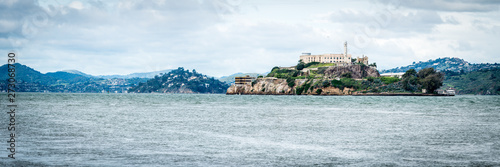 Canvas Print The Rock - Alcatraz Prison Panorama