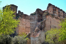 Red Bazilica Of Bergama In Turkey