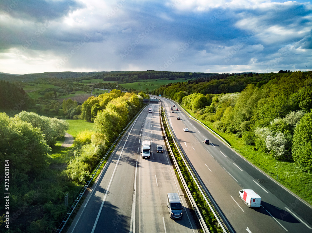 Fototapety, obrazy: Highway in Germany