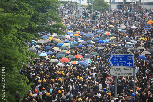 Photo  protest in hong kong on june 12 2019