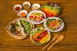 サラダ Trendy healthy food chopped salad