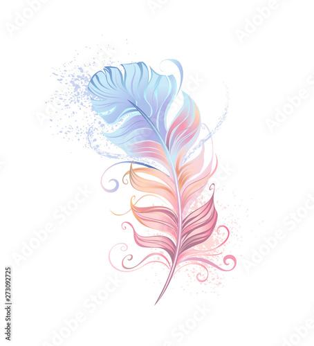 Fluffy powder feather Canvas-taulu