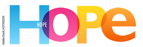 Photo  HOPE colorful vector concept word typography banner