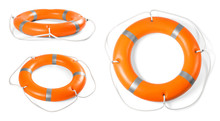 Set Of Orange Lifebuoy Rings O...
