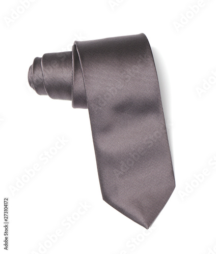 Photographie Stylish color male necktie isolated on white