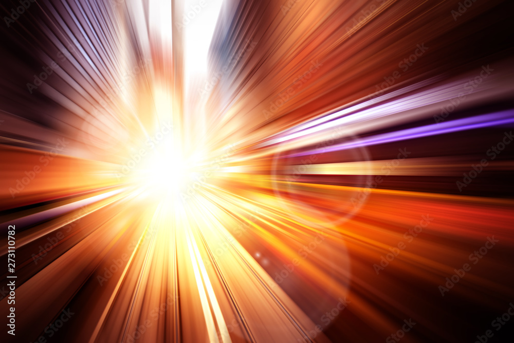Fototapety, obrazy: Motion Light speed and fast effect background