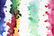Artistic colorful watercolor brush strokes