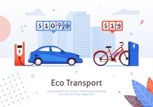Eco Transport Electric Car And E-bike Charging