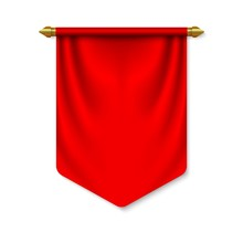 Empty 3D Pennant Template