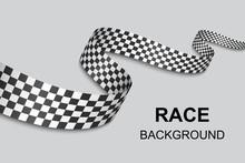 Checkered Flag Background . Ve...