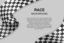 Checkered Flag Background . Vector Illustration