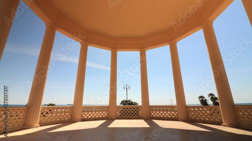 Circular gazebo temple of music near the Mascagni terrace Fototapet