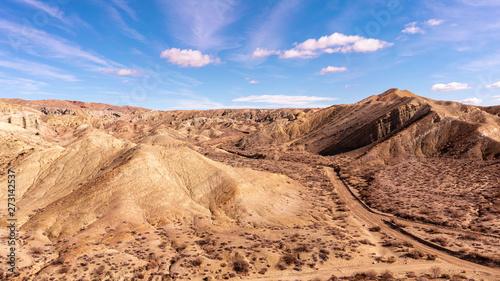 Fotografija Spectacular landscape panorama of Rainbow Basin National landmark