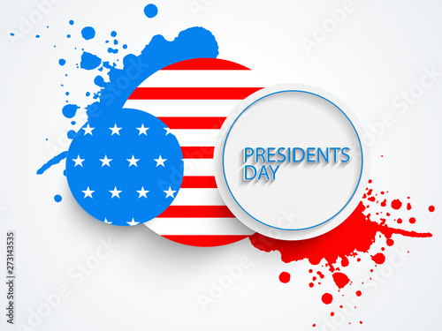 Valokuva  American Presidents Day celebration sticker or label.
