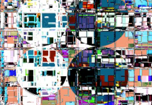 Fototapeta Abstract design with elements of art and texture obraz na płótnie