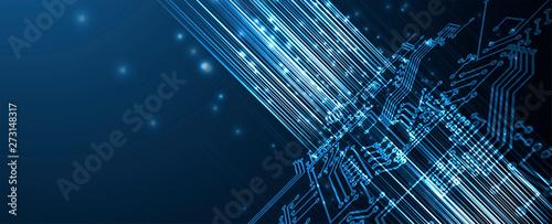 Fotografía  abstract futuristic circuit computer internet technology board business dark bac