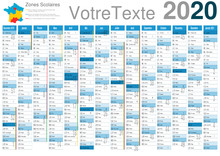 Calendrier 2020 A3 14 Mois Ave...