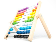 Abacus Counting Frame Isolated...