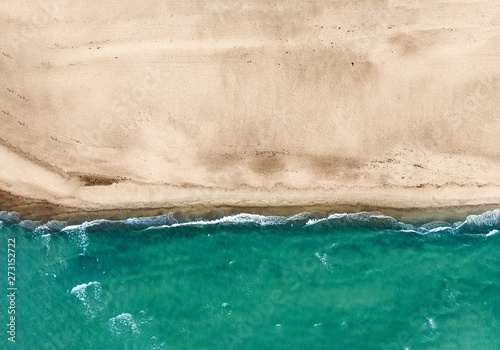 Canvas Prints Countryside Aerial view of summer beach with ocean and free space for your decoration. Summer time