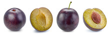 Plum And Slice Clipping Path