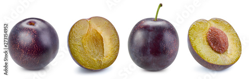 plum and slice clipping path Wallpaper Mural