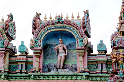 KUALA LUMPUR, MALAYSIA, JANUARY 2017: The Temple of Sri Mahamariamman is the oldest Hindu temple in Kuala Lumpur, Malaysia Canvas Print