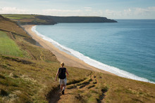 Walking Coast Path Above Porth...