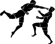 Superman Punch, Mix Martial Arts Silhouette