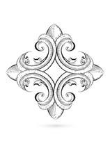 Gothic Kreuz Zeichnung Schwarz Weiß