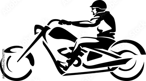 Foto Stylized Chopper Rider Abstract Isolated Vector